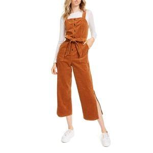 NWT Oat New York Orange Corduroy Jumpsuit Overalls
